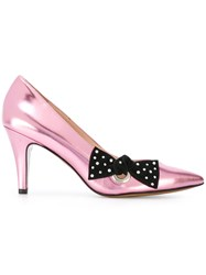 Marc Jacobs Bow Pumps Women Leather Glass 41 Pink Purple