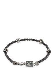 Cantini Mc Firenze Roses Beaded Bracelet Black