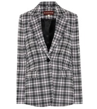 Alexachung Plaid Blazer Black