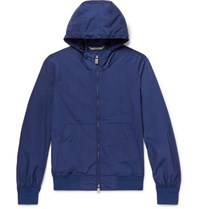 Canali Shell Hooded Anorak Navy