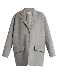 Acne Studios Lupi Double Wool Blend Coat Grey