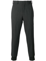 Neil Barrett Gathered Ankle Tailored Trousers Grey