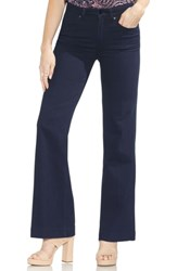 Vince Camuto High Rise Wide Leg Jeans Dark Rinse