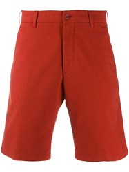 Loro Piana Classic Chino Shorts Red