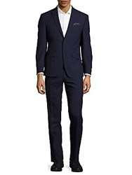 Tallia Solid Wool Suit Navy