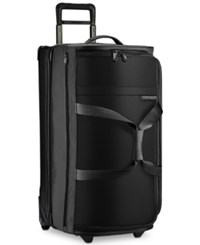 Briggs And Riley 29 Large Upright Wheeled Duffel Bag Black