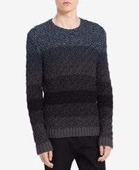 Calvin Klein Jeans Men's Ombre Cable Sweater Submerge Combo