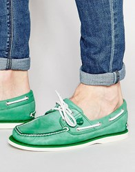 Timberland Classic Leather Boat Shoes Green