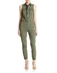 Guess Military Cargo Jumpsuit Green
