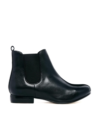 Bertie Mouse Leather Chelsea Boots Black