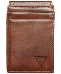 Guess Naples Front Pocket Wallet Tan