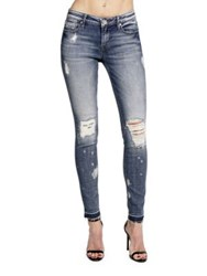 Cult Of Individuality Zen Mid Rise Skinny Fit Jeans Blue