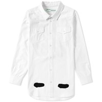 Off White Diagnoals Spray Shirt White