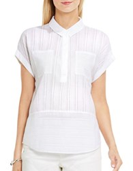 Vince Camuto Cap Sleeve Cotton Shirt Ultra White