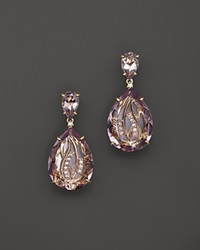 Vianna Brasil 18K Yellow Gold Earrings With Pink Amethyst And Diamond Accents Pink Gold