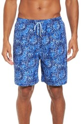 Peter Millar Tabby Shells Swim Trunks Atlantic Blue
