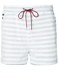 Loveless Striped Drawstring Shorts White