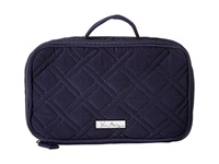 Vera Bradley Luggage Blush Brush Makeup Case Classic Navy Cosmetic Case