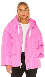 Free People Hailey Puffer In Pink.