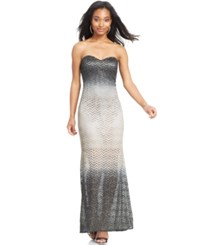 Jump Juniors' Strapless Glittered Gown Teal