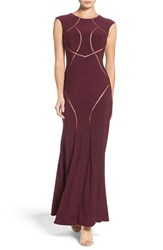 Xscape Evenings Petite Women's Mesh Inset Gown