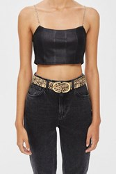 Topshop Pony Buckle Belt True Leopard