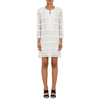 Barneys New York Women's Striped Embroidered Tunic No Color
