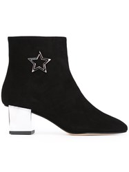 Marc Ellis Star Embroidered Boots Black