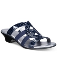 Karen Scott Emmee Slide Sandals Only At Macy's Women's Shoes Navy