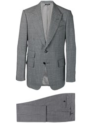 Tom Ford Houndstooth Two Piece Suit Grey