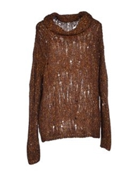 Kristina Ti Turtlenecks Brown
