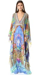 Camilla Long Caftan With Waist Tab Bohemian Bounty