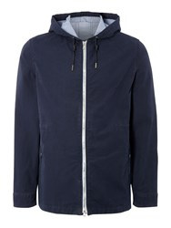 Criminal Kane Hooded Mid Length Coat Navy