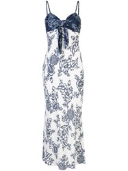 Shona Joy Knot Detail Floral Pattern Dress Blue