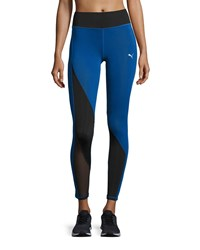 Puma Explosive High Waist Performance Tights Blue Black Blue Black