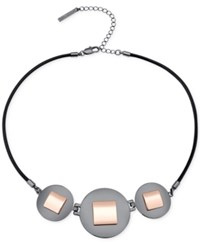 T Tahari Hematite Tone Collar Necklace