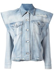 Maison Martin Margiela Mm6 Structured Denim Jacket Blue
