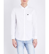 Lee Regular Fit Cotton Twill Shirt White