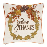 Mackenzie Childs Give Thanks Cushion 45X45cm