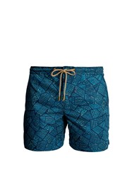 Thorsun Titan Fit Tile Print Swim Shorts Green