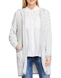 Vince Camuto Plaited Ribbed Hooded Cardigan