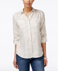 Charter Club Paisley Print Shirt Only At Macy's Flax