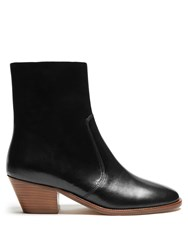 Isabel Marant Doynie Leather Ankle Boots Black