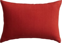 Cb2 Linon Red Orange 18 X12 Pillow With Feather Down Insert