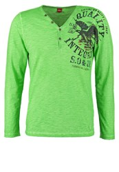S.Oliver Slim Fit Long Sleeved Top Green