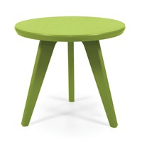 Loll Designs Satellite Round End Table Leaf 18 Inch Green