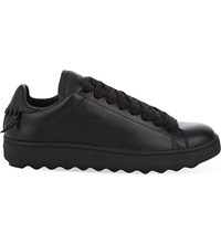 Coach Leather Low Top Trainers Black