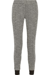 Thakoon Patterned Ponte Tapered Pants Black