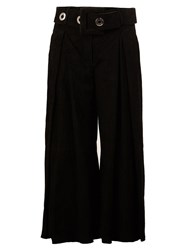 Drome Belted Cropped Trousers Black
