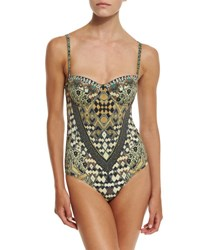 Camilla Embellished One Piece Swimsuit Weave Of The Wild